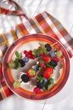 Skewer of berries in pot Stock Photo