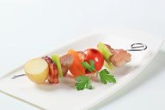 Skewer da carne de porco Fotografia de Stock Royalty Free