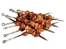 Skewer grelhado do kebab do shish. Imagens de Stock