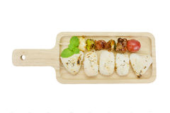 Skewer meat and vegetables with grilled rice,clipping path Royalty Free Stock Photo