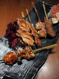 Skewer Platter. Assorted Japanese Style Skewer Platter Royalty Free Stock Photography