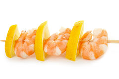 Skewer shrimp Stock Photo
