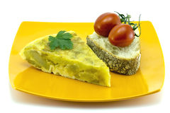 Skewer Spanish omelette Stock Image