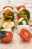 Skewer of vegetables Royalty Free Stock Photo