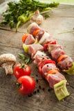 Skewer z warzywami obraz stock