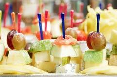 Skewerd Fruit Snack Stock Photography