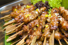 Skewered Chicken Sticks Royalty Free Stock Photos