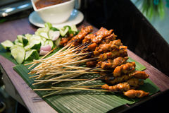 Skewered and Grilled Meat, Satay Stock Image