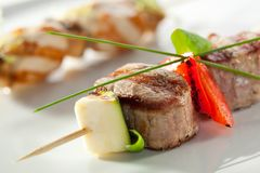 Skewered Meat Royalty Free Stock Images