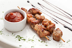 Skewered Meat Stock Photo