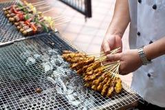Skewered och grillat kött, Satay Royaltyfria Foton