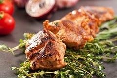 Skewered Pork Royalty Free Stock Photos