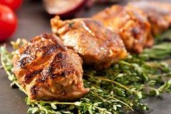 Skewered Pork Royalty Free Stock Photo