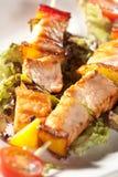 Skewered Salmon Royalty Free Stock Photos