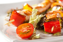 Skewered Salmon Stock Images