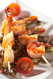 Skewered Shrimps Royalty Free Stock Photo