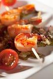 Skewered Shrimps Royalty Free Stock Image