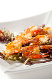 Skewered Shrimps Stock Photos