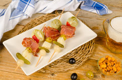 Skewered tapa Stock Photos