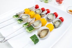 Skewers of Abalone for Barbecue Royalty Free Stock Photography