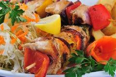 Skewers food Stock Photo