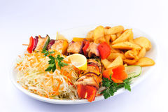 Skewers food Royalty Free Stock Images