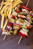 Skewers of chicken Stock Photography