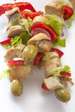 Skewers of chicken Royalty Free Stock Images