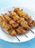 Skewers with chicken Stock Photography