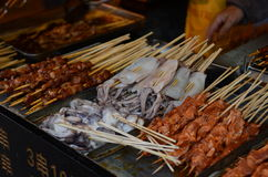 Skewers in China Royalty Free Stock Image