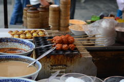 Skewers in China Royalty Free Stock Images