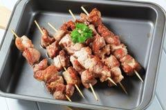 Skewers da carne de porco Fotos de Stock