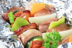 Skewers da carne de porco Foto de Stock Royalty Free