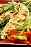 Skewers de Satay da galinha imagens de stock