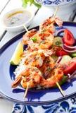 Skewers do camarão Imagens de Stock