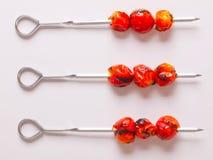 Skewers do tomate de cereja Imagens de Stock