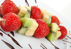 Skewers Fruits Stock Photo