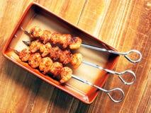 Skewers grelhados do camarão Fotos de Stock