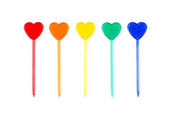 Skewers with hearts Royalty Free Stock Photos