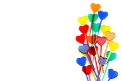 Skewers with hearts Royalty Free Stock Photo