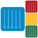 Skewers icons set Stock Image