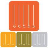Skewers icons set Royalty Free Stock Image