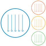 Skewers icons set Royalty Free Stock Photography