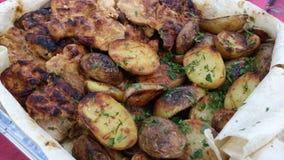 Skewers kurczak i wieprzowina Zdjęcie Royalty Free
