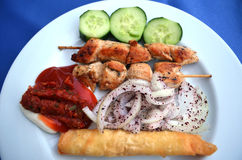 Skewers kurczaka mięso Obraz Royalty Free