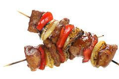 Skewers made with pork Stock Photography