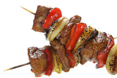 Skewers made with pork Stock Photos