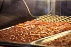 Skewers meat Royalty Free Stock Image