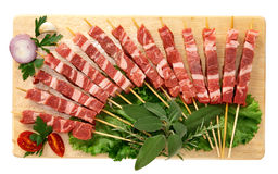 Skewers of meat Stock Photography