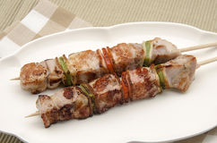 Skewers of meat Royalty Free Stock Photo